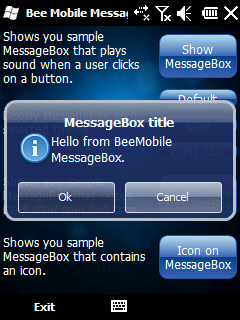 MessageBox screen