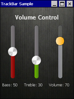 TrackBar screen