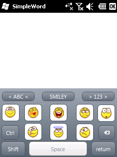 Smiley layout