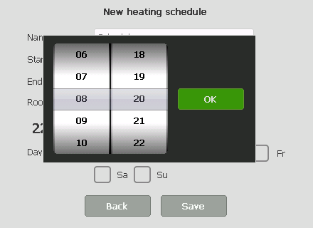 New schedule form with iWheel.