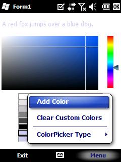 ColorPicker screen
