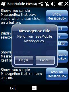 MessageBox screen