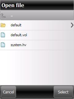 OpenSaveDialog screen