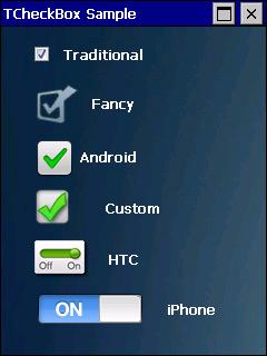TCheckBox screen