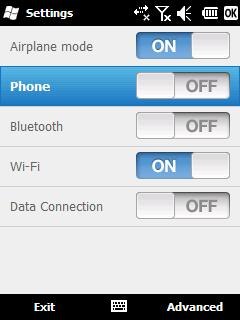 TouchList screen
