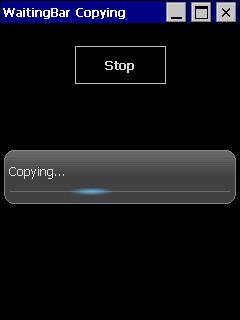 WaitingBar screen