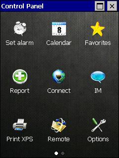 iMenu screen